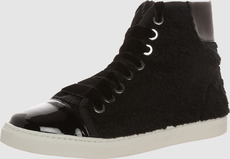 The NO ANIMAL Brand Hoher Sneaker mit Fellimitat
