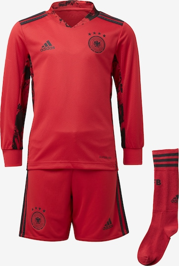 ADIDAS PERFORMANCE Trainingsanzug in rot / schwarz, Produktansicht