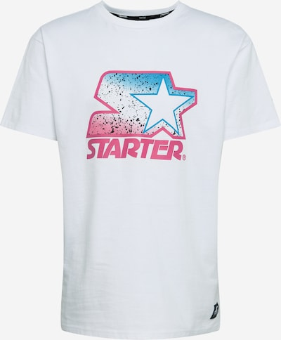 Starter Black Label T-Shirt 'Multicolored' en rose / blanc, Vue avec produit