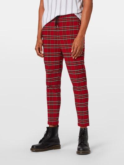Pantaloni Urban Classics pe roșu / negru: Privire frontală