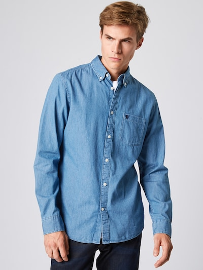 SELECTED HOMME Overhemd 'Collect' in de kleur Blauw denim: Vooraanzicht