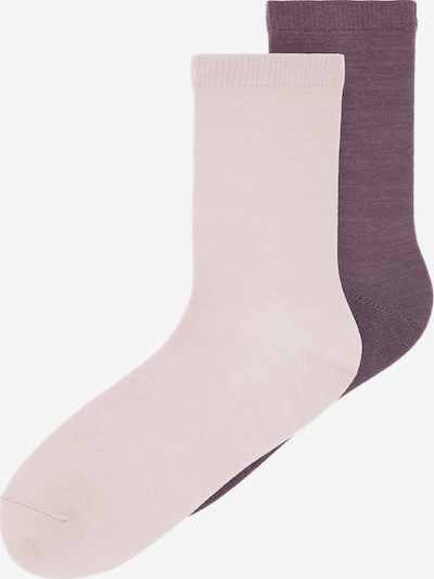 NAME IT Socken in aubergine / rosa, Produktansicht
