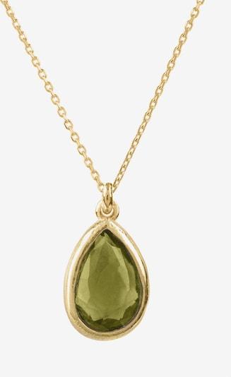 Latelita Kette in gold / oliv, Produktansicht