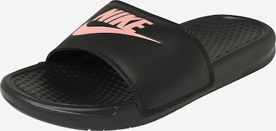 Nike Sportswear Badeschuh 'Benassi Just Do It' in rosé / schwarz, Produktansicht
