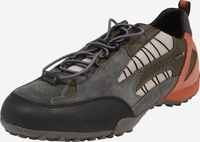 GEOX Niske tenisice u smeđa / siva / narančasta / crna, Pregled proizvoda
