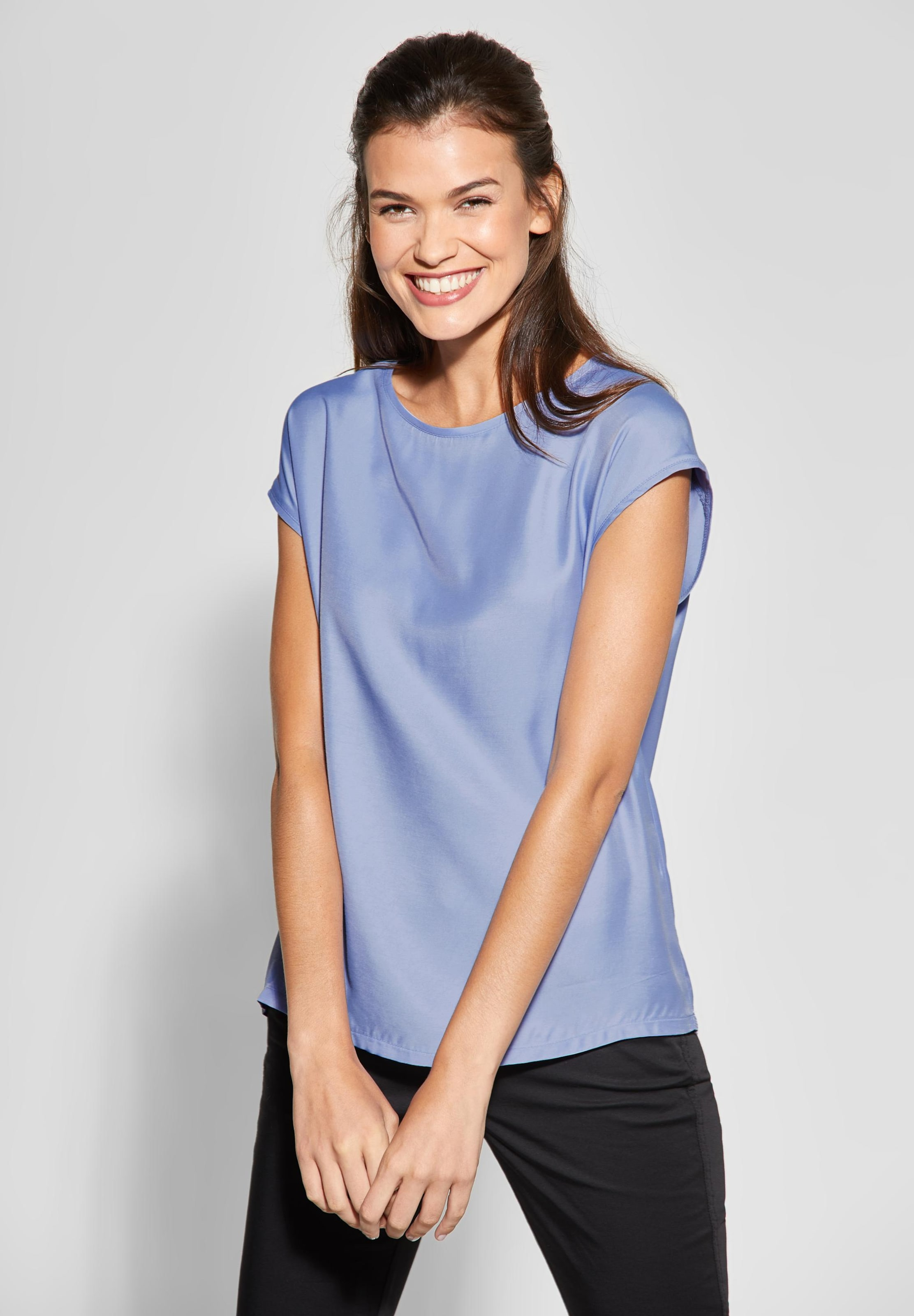 In Street Basic style Shirtbluse One Himmelblau Im 2IE9DH