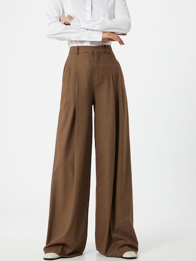Pantaloni cu dungă 'Notch' DRYKORN pe maro / negru, Vizualizare model