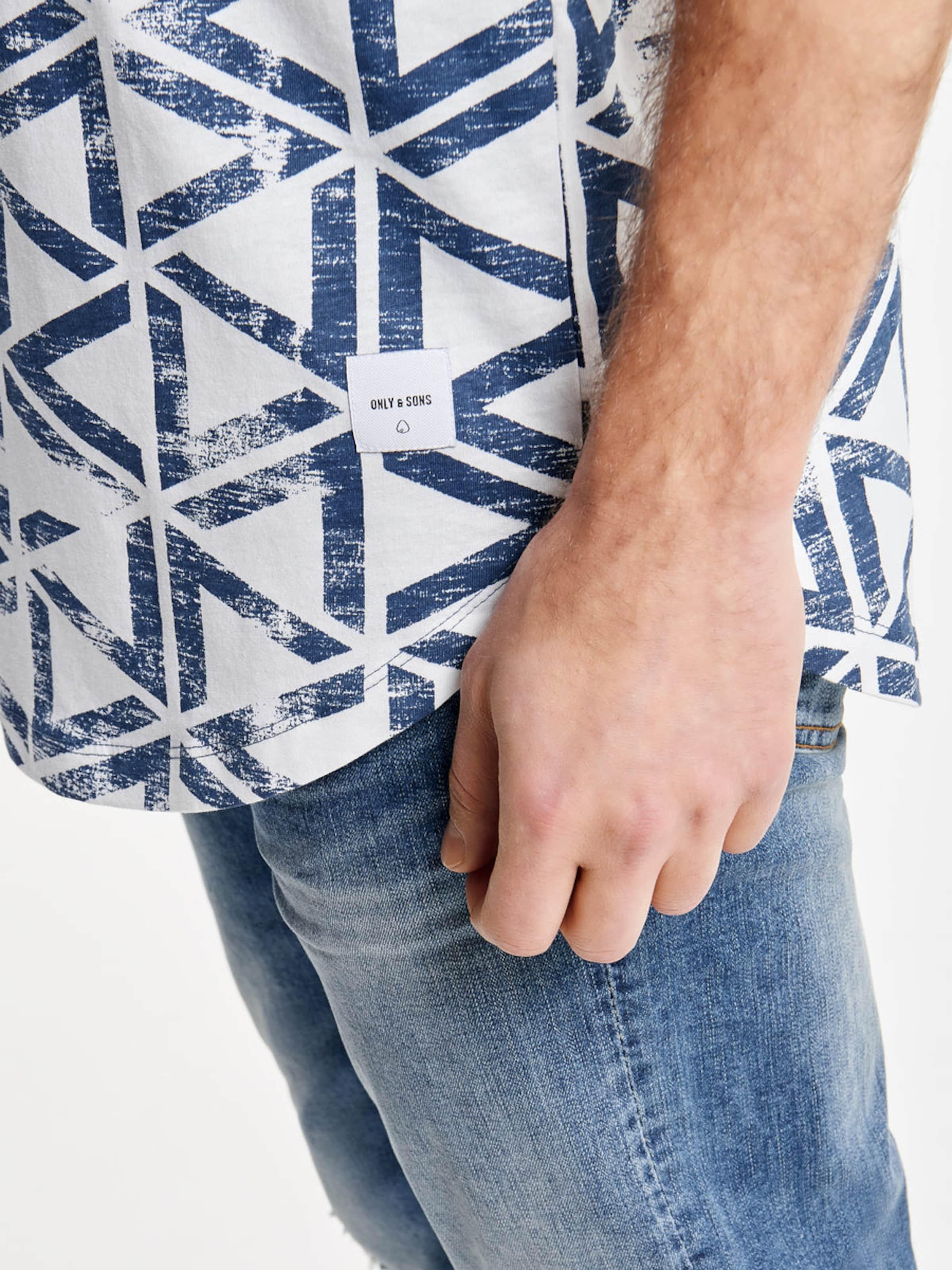 Only & Sons Print T-Shirt Freies Verschiffen Manchester Unisex YhoIuC