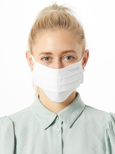 Mey Stoffmaske in weiß: Frontalansicht