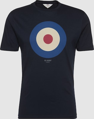 Ben Sherman Shirt 'THE TARGET TEE' in Navy / Rood / Wit
