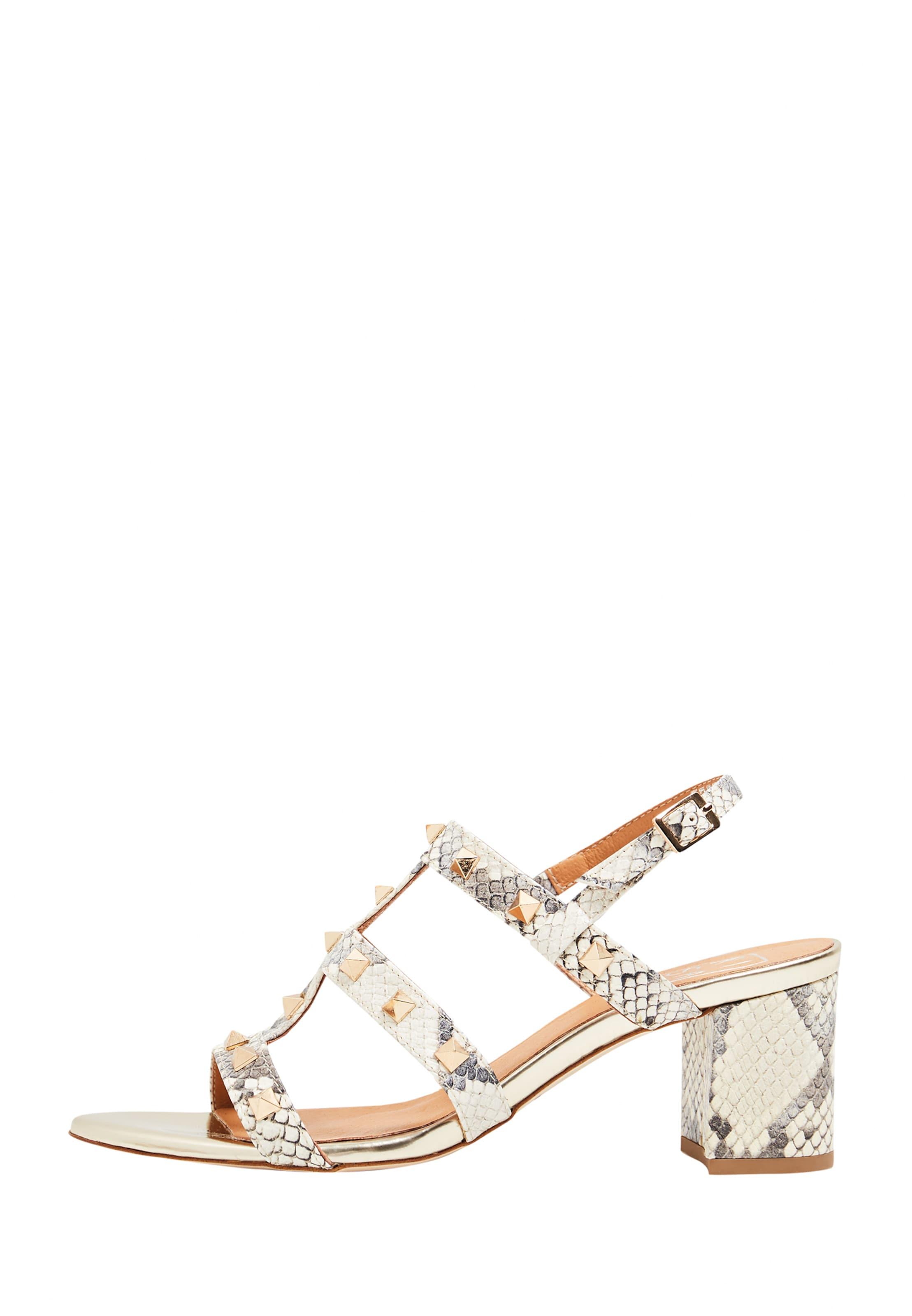 RISA Sandalette in grau   weiß