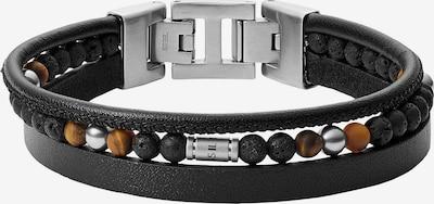 FOSSIL Armband in braun / schwarz / silber, Produktansicht