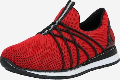 RIEKER Halbschuhe in rot / schwarz / weiß, Produktansicht