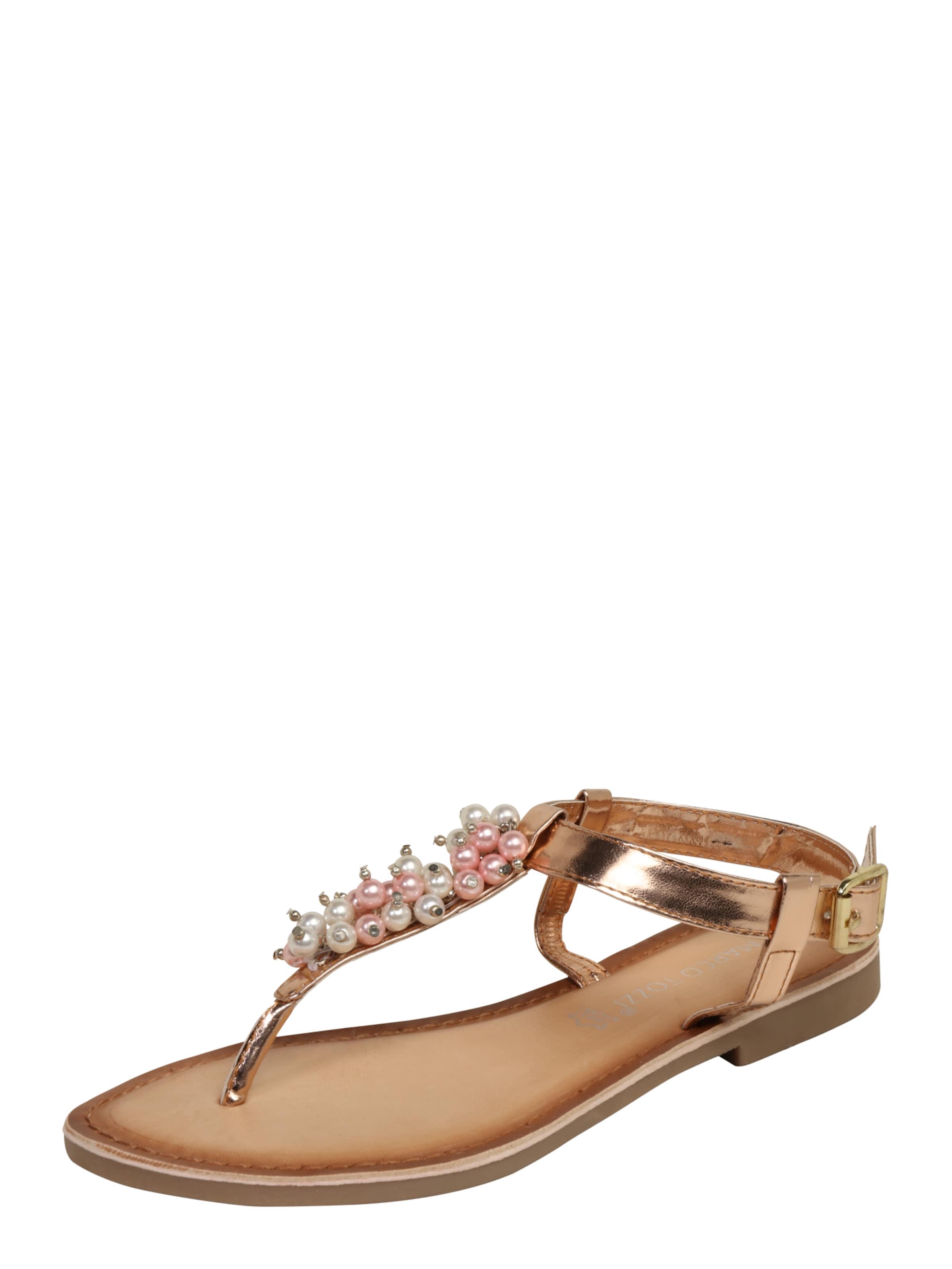 MARCO TOZZI Sandale mit Zehensteg und Zierperlen