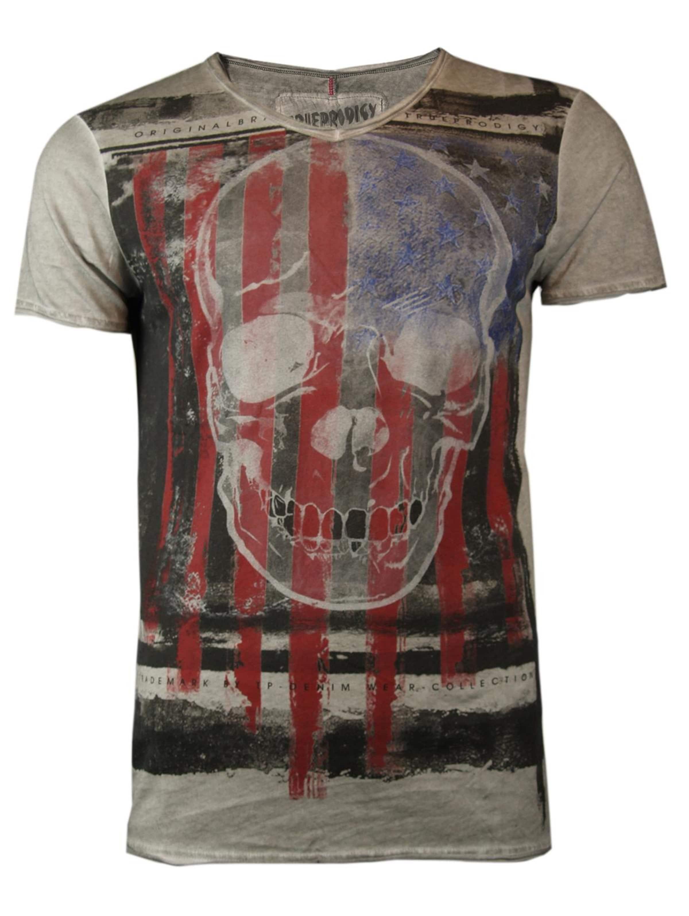 Skulls' Schwarz T 'united shirt HellblauGrau Rot Trueprodigy In UzSGLqMjVp