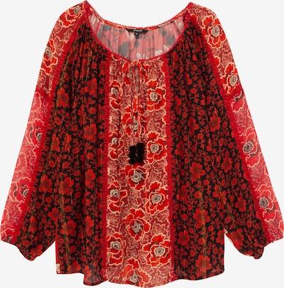 Desigual Bluza 'Rosal' u crvena / crna / bijela, Pregled proizvoda
