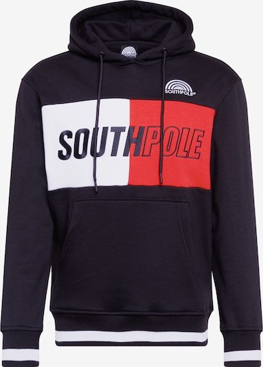 SOUTHPOLE Sweatshirt in rot / schwarz / weiß, Produktansicht
