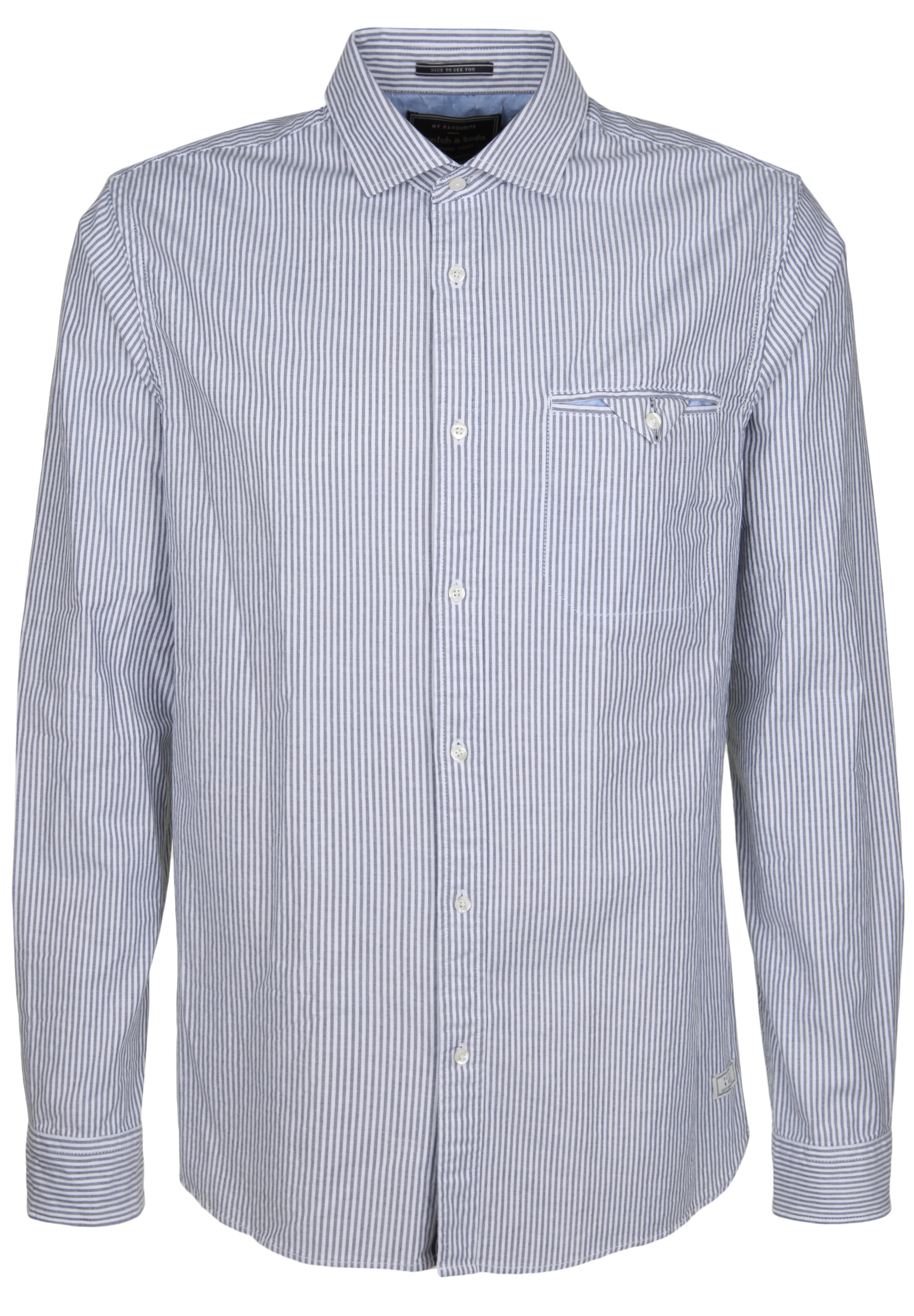 Soda Zakelijk Overhemd Scotchamp; In DuifblauwWit nZP80wXNOk