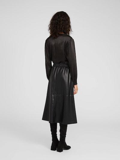 Fustă 'Venna' EDITED pe negru: Privire spate
