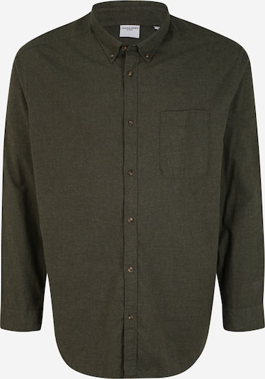 Jack & Jones Plus Hemd in dunkelgrün, Produktansicht