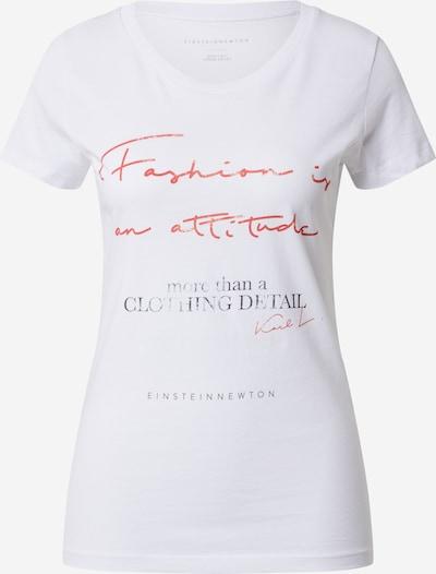 EINSTEIN & NEWTON Shirt 'Attitude' in orange / schwarz / weiß, Produktansicht