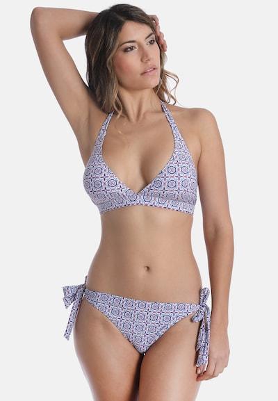 sassa Bikini-Top KALEIDOSCOPE PRINT in blau / hellrot, Modelansicht