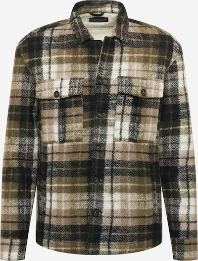 DRYKORN Prijelazna jakna u smeđa / brokat / grafit siva / bijela, Pregled proizvoda