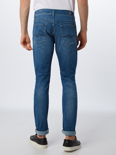 7 for all mankind Jeans 'RONNIE LUXE PERFORMANCE' in blue denim: Rückansicht