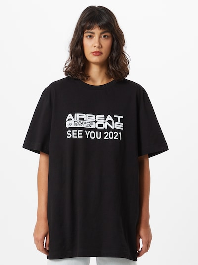 ABOUT EVERYONE T-Shirt 'Airbeat' in schwarz: Frontalansicht