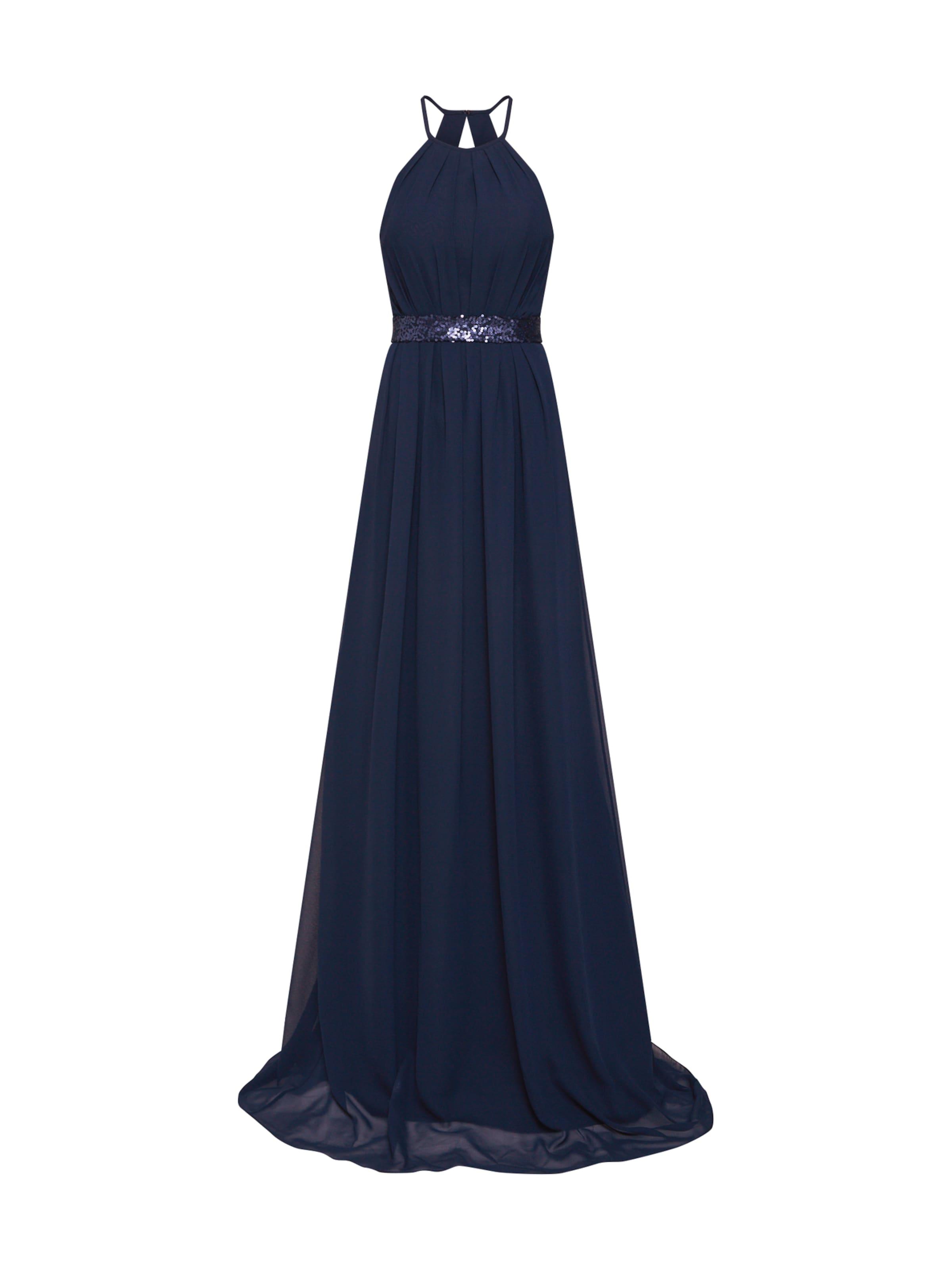 Night In Dress Abendkleid 'long Chiffonamp; Sequins' Star Navy K1JcTF3l
