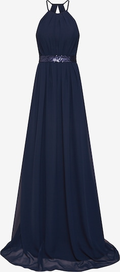 STAR NIGHT Õhtukleit 'long dress chiffon & sequins' meresinine, Tootevaade