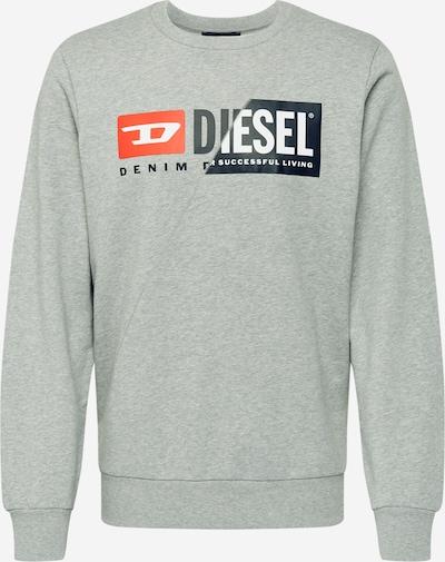 DIESEL Sweatshirt 'Girk-Cuty' in navy / graumeliert / rot / weiß, Produktansicht