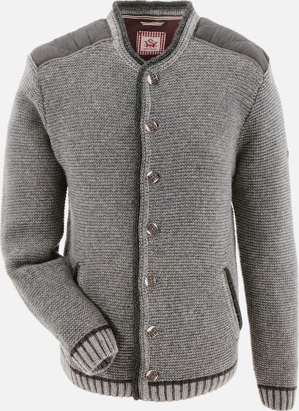 Spieth & Wensky Costume Sweater Men With Sleeveless Patches