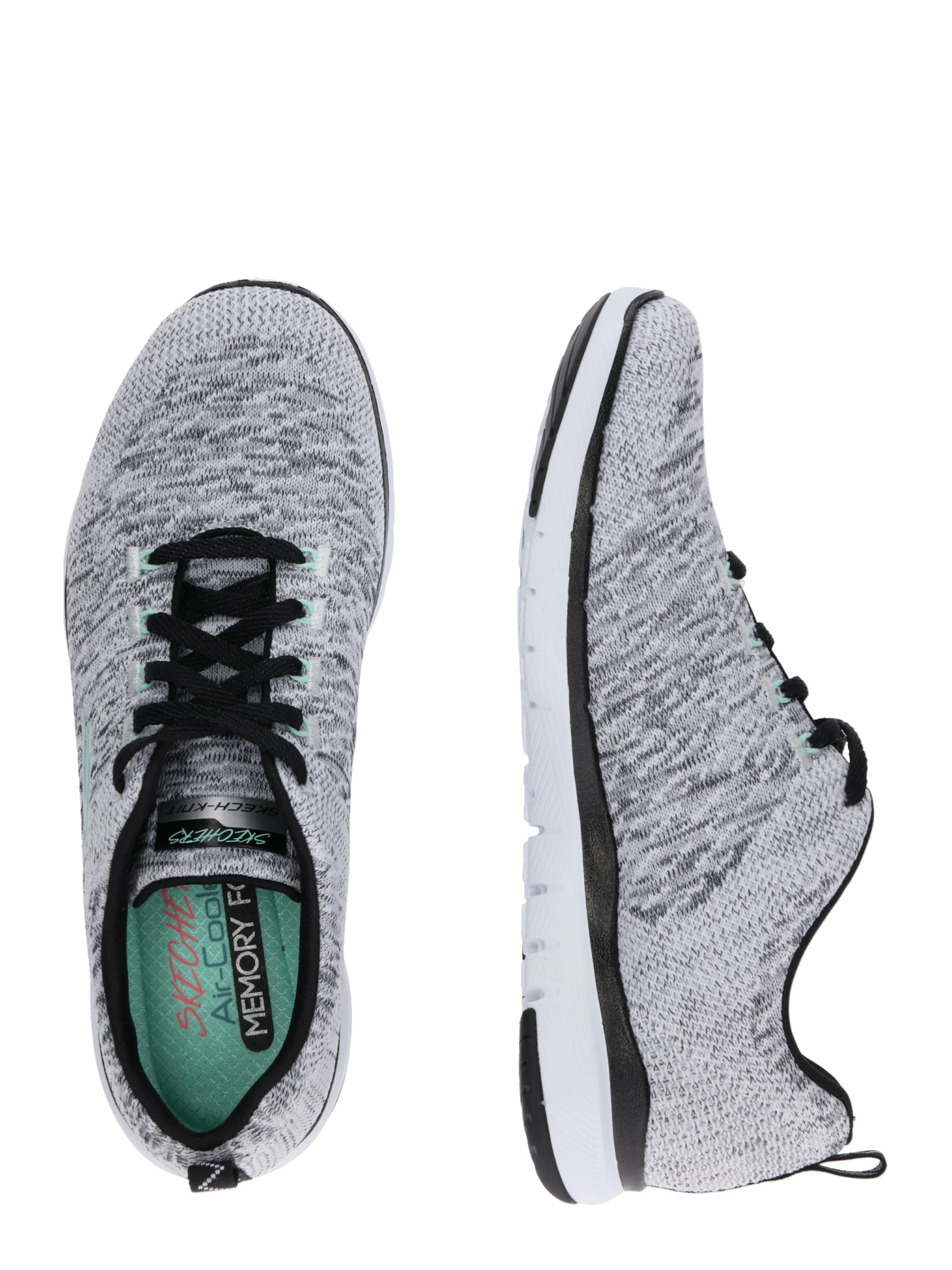 0' Sneaker Appeal 'flex In 3 SchwarzWeiß Skechers knO8NwX0P