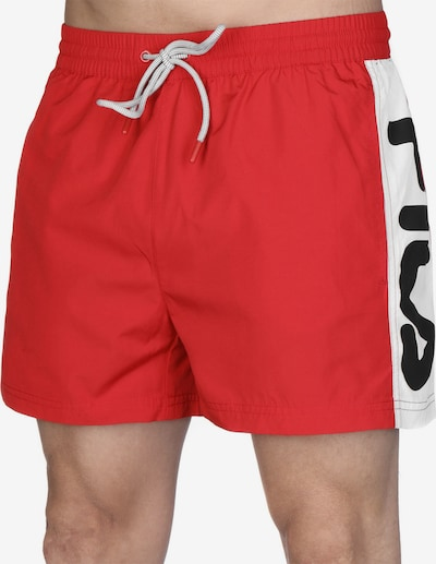 FILA Boardshorts ' Safi ' en rouge, Vue avec produit