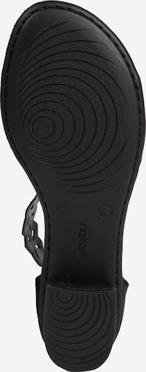 RIEKER Sandale 'Stanz' in schwarz: Ansicht von unten