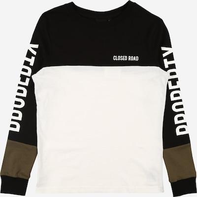 LMTD Sweatshirt in khaki / schwarz / weiß, Produktansicht