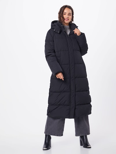 mbym Zimski plašč 'Ela Slit' | črna barva: Frontalni pogled