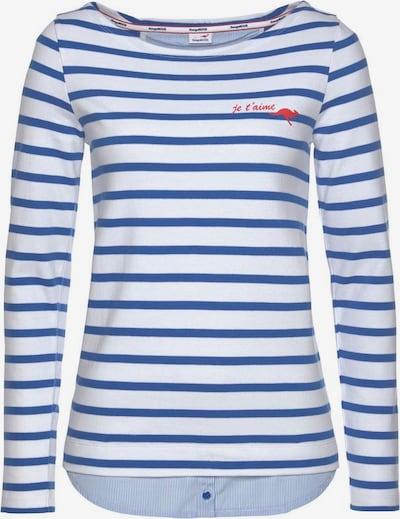 KangaROOS Shirt in blau / weiß, Produktansicht