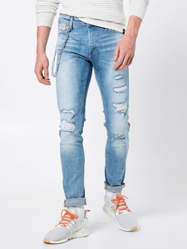 JACK & JONES Skinny Jeans im im im Destroyed-Look in Blau denim  Mode neue Kleidung fc1ef3