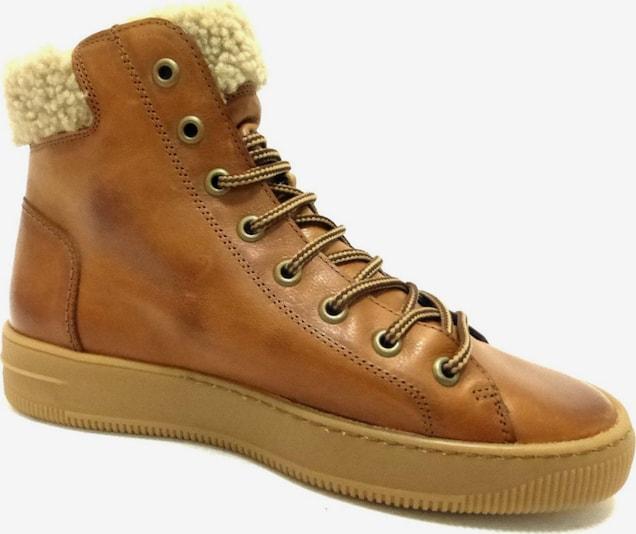 Paul Green Sneakers hoog in Cognac rnkifayr