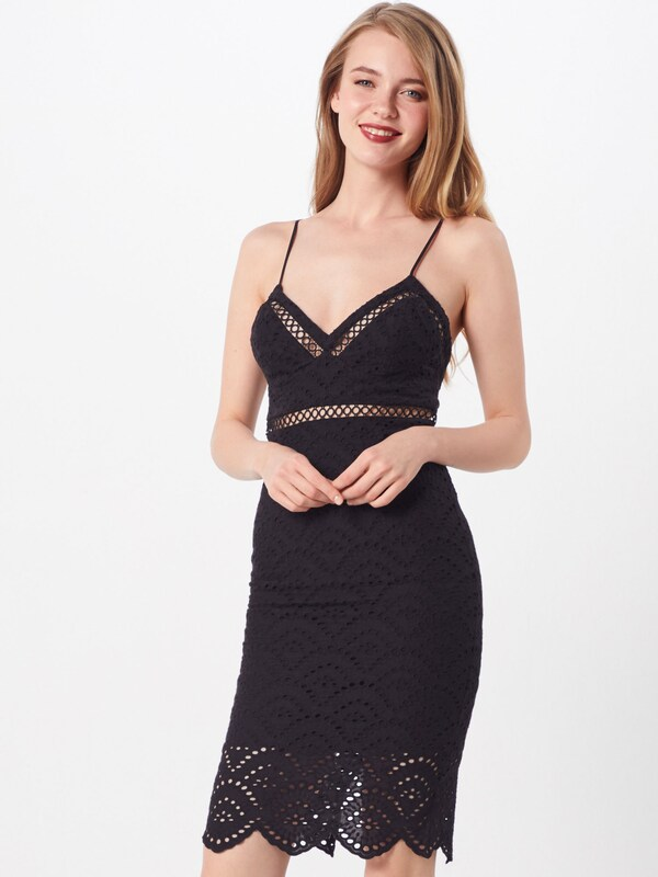 Bardot Kleid 'SOFIA EMBROIDERED DRESS' in schwarz, Modelansicht