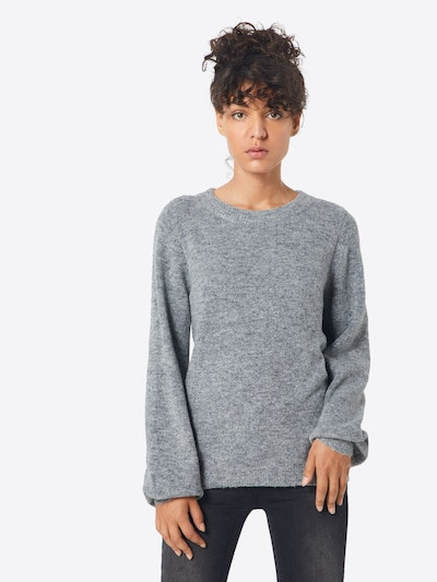 OBJECT Pullover in hellgrau, Modelansicht