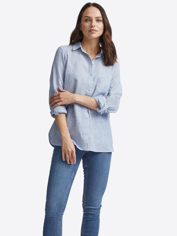 Dorothy Perkins Bluse 'CHAMBRAY' in blau, Modelansicht