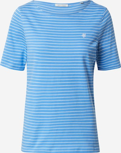 Marc O'Polo T-shirt en bleu clair / blanc, Vue avec produit