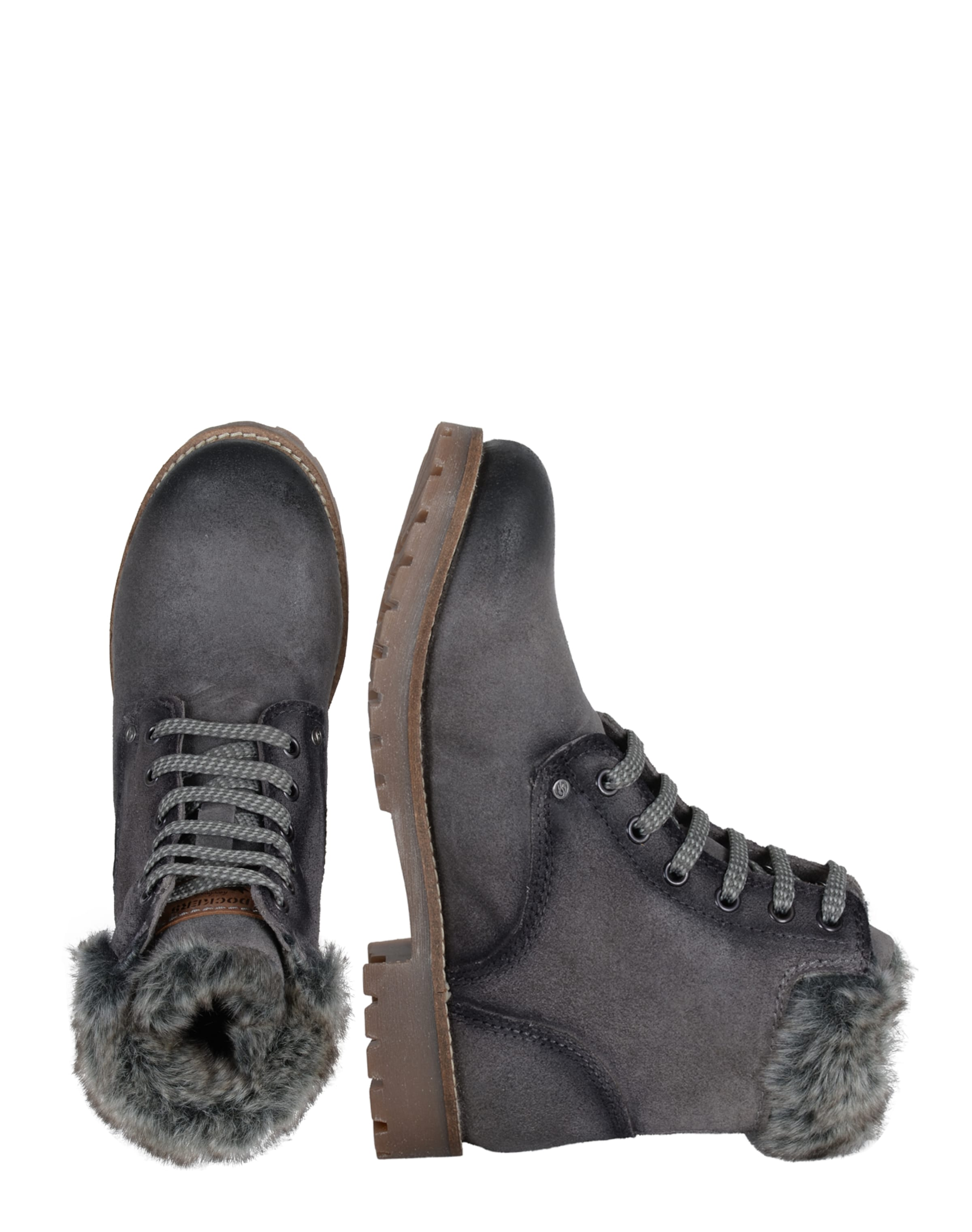 By Bottes En Dockers Gerli Lacets MarronGris À P0wONXZnk8