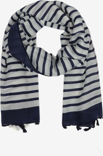 Zwillingsherz Tuch in dunkelblau / weiß, Produktansicht