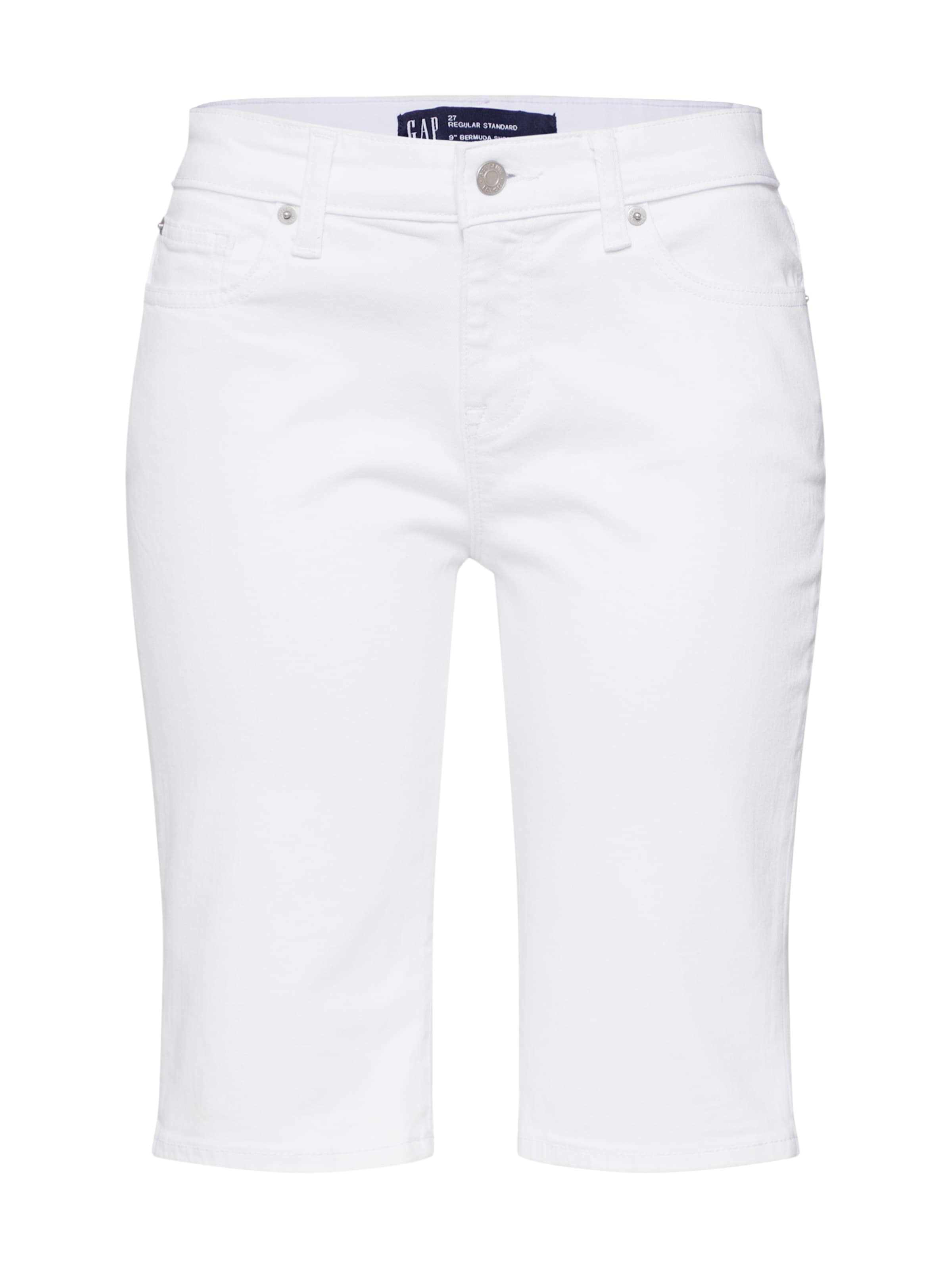 In Gap Jeans Denim White 'v bermuda' ED2bHY9eWI