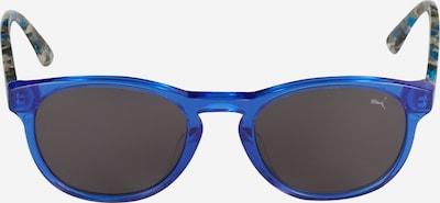 PUMA Zonnebril 'PJ0023S' in de kleur Blauw / Rookgrijs, Productweergave