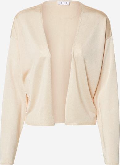 EDITED Gebreid vest 'Leanna' in de kleur Beige / Crème, Productweergave